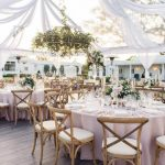 glamour outdoor wedding